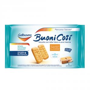 GALBUSERA 8 Confezioni biscotti frollini buoni cosi senza olio di palma 300gr 6 pezzi