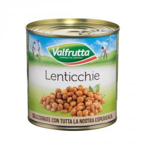 VALFRUTTA 12 Confezioni altri legumi lenticchie 400gr