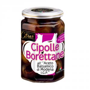 CITRES 12 Confezioni ortaggi sottaceto cipolle 314ml con aceto balsamico