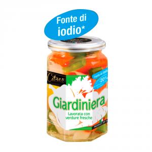 CITRES 12 Confezioni ortaggi in agrodolce giardiniera 314ml fonte di iodio