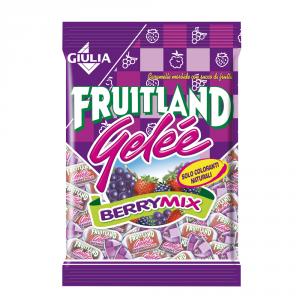 FRUITLAND 12 Confezioni caramelle gelee in busta berrymix 200gr