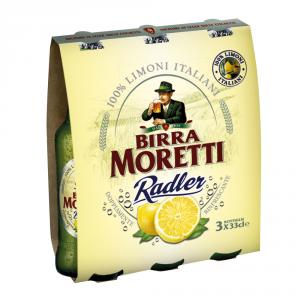 BIRRA MORETTI 8 Confezioni birra importazione radler lemon 330ml 3 pezzi