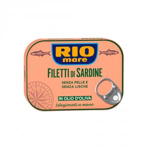 RIO MARE 20 Packungen Bewahrt Sardinen 105 g in Öl Von Oliven