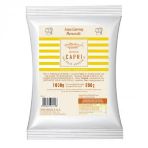 CAPRI 12 Confezioni tonno sottolio capri busta 1kg all olio vegetale