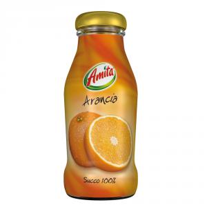 AMITA 24 Confezioni succhi di frutta 100% succo arancia 100% 200ml