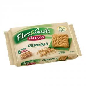 BALOCCO 10 Confezioni biscotti frollini integrali fibra&gusto 350gr