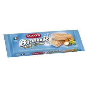 BALOCCO 24 Confezioni wafer break con crema alla vaniglia 90gr