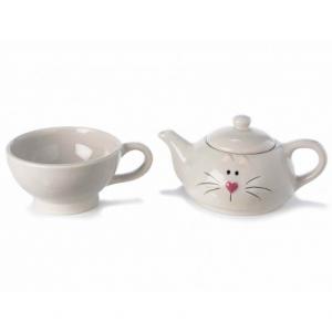 Tea for One Bianca con Muso di Gatto