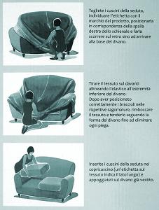 Copridivano 2 posti con 2 cuscini Zucchi Copri divano ZAPPING tortora