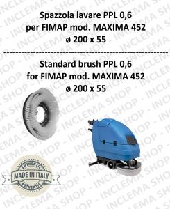 SPAZZOLA LAVARE  per lavapavimenti FIMAP modello MAXIMA 452 PPL 0,6 - ø200 X 55 mm