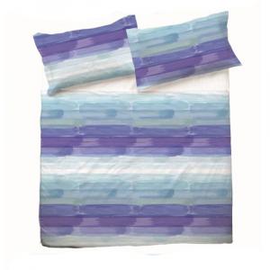 Set lenzuola per letto piazza e mezza FRANCESE puro cotone COLORS bluette