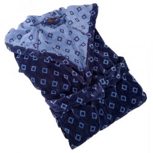 Trussardi accappatoio con cappuccio DANDY blu in spugna - varie misure