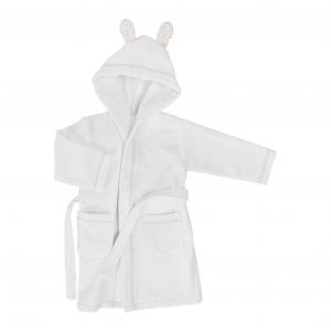 Accappatoio bambino con cappuccio in spugna BASSETTI BALLOON bianco - varie misure