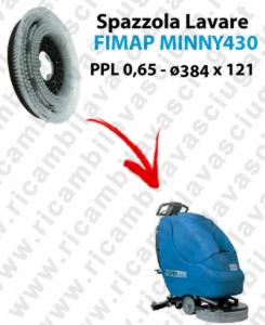 SPAZZOLA LAVARE  per lavapavimenti FIMAP MINNY 430. Modello: PPL 0,65  ø384 X 121