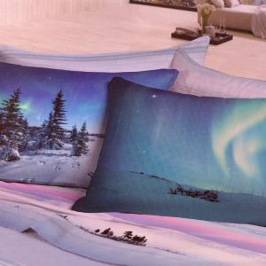 Set lenzuola invernali piazza e mezza caldo cotone AURORA stampa digitale