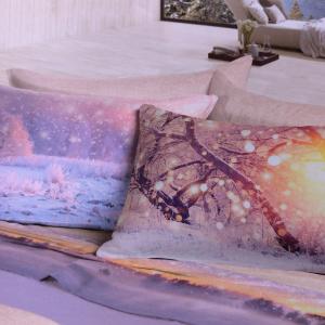 Set lenzuola invernali matrimoniale 2 piazze caldo cotone Geneve stampa digitale