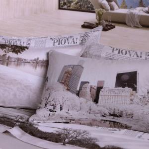 Set lenzuola invernali matrimoniale 2 piazze caldo cotone MONTBLANC stampa digitale