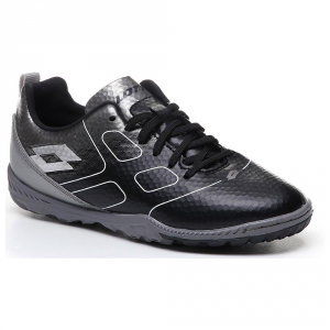 SCARPE CALCETTO LOTTO MAESTRO 700 TF JR BLACK/SILVER T6936