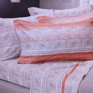 Set lenzuola invernali letto piazza e mezza caldo cotone CHAMONIX cuoio