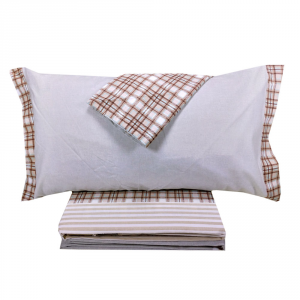Set lenzuola invernali matrimoniale 2 piazze caldo cotone Chamonix scozzese