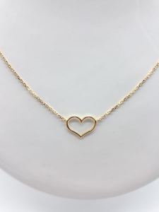 Collana Donna  oro giallo con cuore, vendita on line   GIOIELLERIA BRUNI Imperia