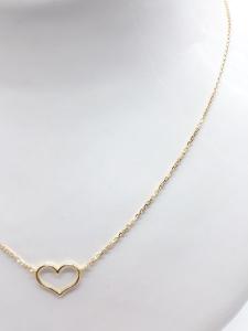 Collana Donna  oro giallo con cuore, vendita on line | GIOIELLERIA BRUNI Imperia
