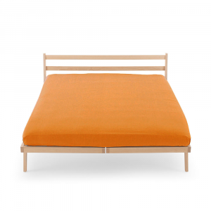 Lenzuola con angoli Tinta unita HAPPIDEA puro cotone Color Arancio