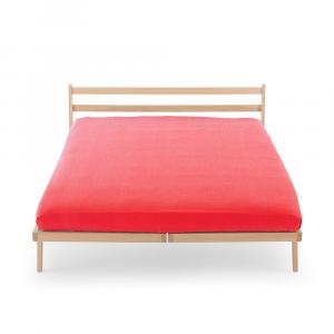 Lenzuola con angoli Tinta unita HAPPIDEA puro cotone Color Rosso