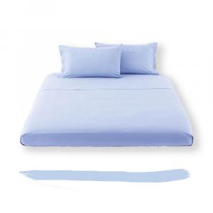 Lenzuola di sopra Letto NEW COLLECTION  cotone Italia - azzurro HAPPIDEA