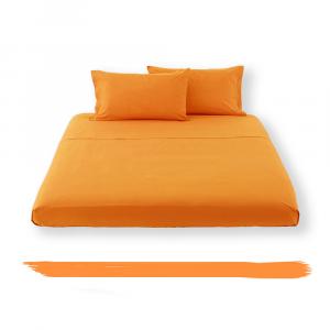 Lenzuola di sopra Letto NEW COLLECTION  cotone Italia - arancio HAPPIDEA