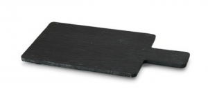 Tagliere rettangolare in ardesia con manico cm.19x11,5