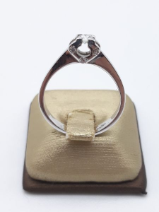 Anello Donna solitario in oro bianco e diamante kt 0.12, vendita on line | GIOIELLERIA BRUNI Imperia