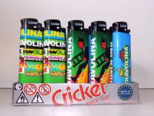 Espositore Accendini Mini Cricket Diavolina Da 25 PEZZI