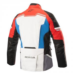 GIACCA MOTO ALPINESTARS HONDA ANDES V2 DRYSTAR JACKET GRAY RED BLUE COD. 3207418