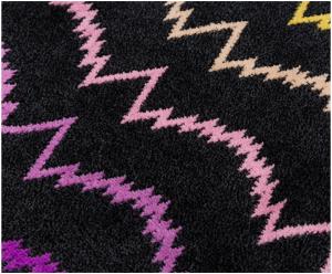 Bademantel Missoni Home mit Kapuze Schwarz mit mehrfarbigen Streifen Vera 160