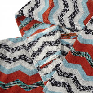 Missoni Home bathrobe with hood Zig Zag multicolored stripes VICTOR