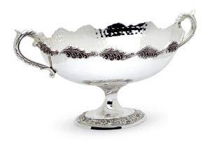 Alzata fruttiera ovale argentata argento sheffield