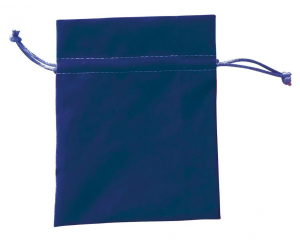 Busta sacchetto velluto blu cm.17x18x0,2h