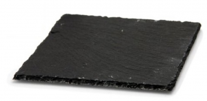 Piatto quadrato da portata in ardesia cm.30x30