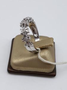 Anello Donna fedina a corona in oro bianco e diamanti, vendita on line | GIOIELLERIA BRUNI Imperia