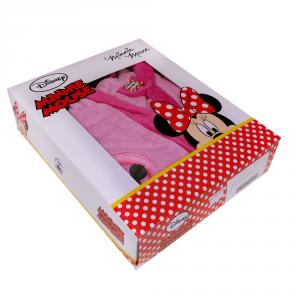 Accappatoio bimba con cappuccio in spugna DISNEY Minnie - varie misure