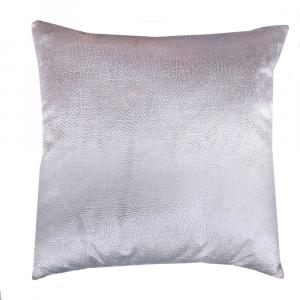 Cuscino arredo decorativo quadrato 45x45 cm Borbonese velluto VELVET OP avorio
