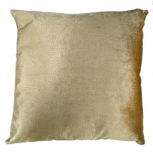 Cuscino arredo decorativo quadrato 45x45 cm Borbonese velluto VELVET OP caramello