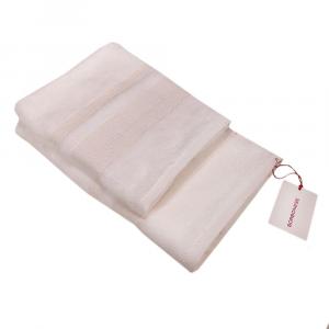 Set 1+1 coppia di spugne asciugamano e ospite Borbonese BORBONISSIMA bianco