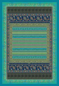 Bassetti Plaid Granfoulard 135x190 CERVINO v.2 smeraldo Salotto Divano