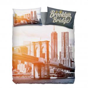 Set Copripiumino letto singolo EAST RIVER NEW YORK Bassetti federa e sotto
