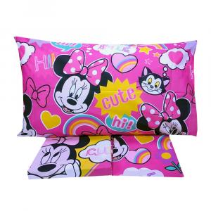 Completo lenzuola letto singolo Disney MINNIE con sotto e federa