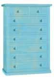 Cassettiera  H130 con 8 cassetti laccato consumato