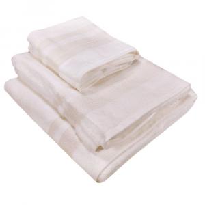 Set 5 pezzi- 2 asciugamani+2 ospiti+ telo Borbonese BORBONISSIMA bianco