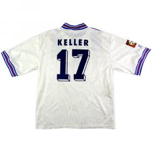 1996-97 Karlsruhe Maglia Home #17 Keller XXL